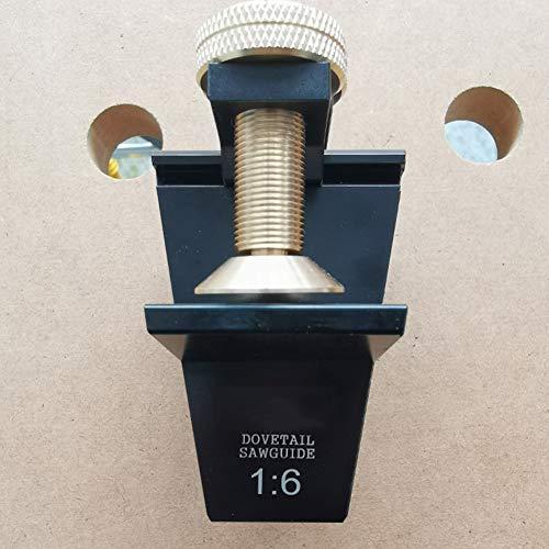 Tonquu Aluminiumlegierung Handwerk Schwalbenschwanz Säge Führung Holzbearbeitung Werkzeug Fixieren Schreinerwaren Schneiden, nicht null, Wie abgebildet, 1:6