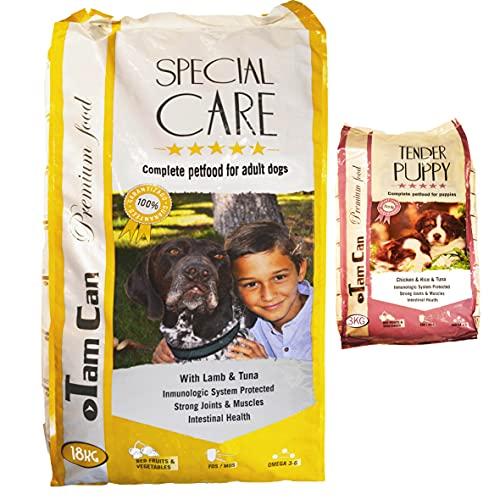 JLN 18KG + 3KG: PIENSO para Perros con Carne de Cordero y Gama Cachorros Premium