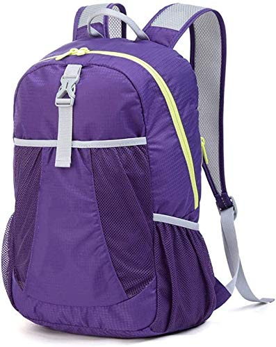 tgbnh Backpack,Hiking Backpack Backpack Unisex Water Resistant Travel Camping Mountaineering Walking Folding Backpack Outdoors (Color : Purple, Size : 22 liters)