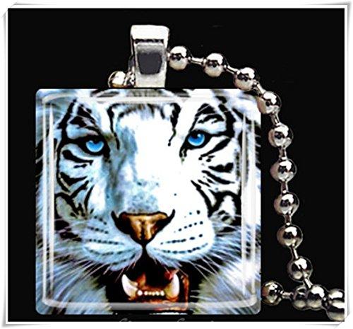 Colgante con diseño de animales, collares de arte, joyería de cristal, hecho a mano