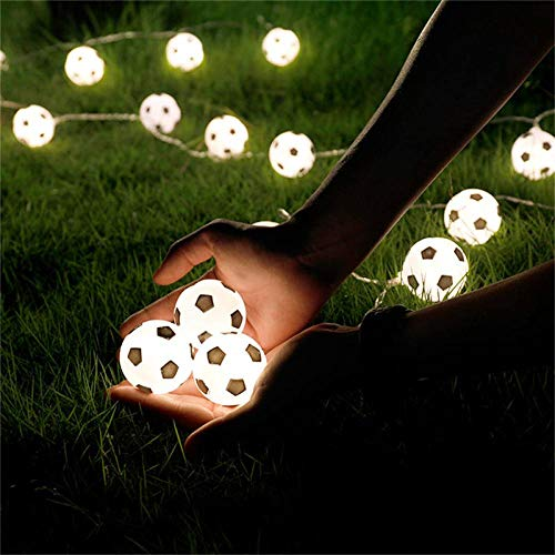 Fairy Lights Yuan Ou LED Soccer Balls String Garland Bedrooms Home Theme Party Christmas 3/5M Football Fairy Lights Battery USB 1.5m 10 Balls Cold White USB