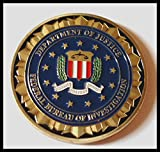 FBI Federal Bureau of Investigation Colorized Challenge Art Coin