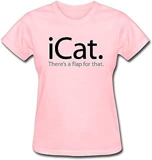 JSFAD Women's ICat Theres Flap T-shirt