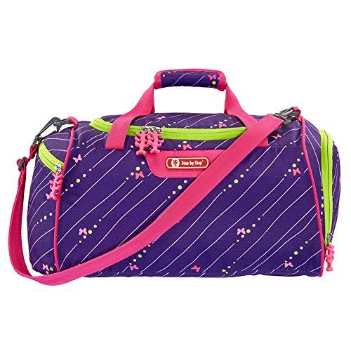 """Step by Step Sporttasche """"Shiny Butterfly"""", lila/pink, mit Nasswäschefach, Abnehmbarer Tragegurt, Verstellbarer Schultergurt, für Mädchen 1. Klasse, 13L"""
