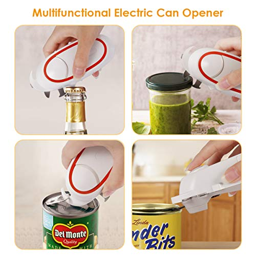 instecho Electric Can Opener, Multi-Function Electric Can Opener, Auto Can Opener,Beer Bottle Opener, Pop-Top Can Opener, Manual Bottle Opener