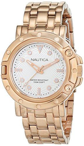 Nautica Reloj Analógico para Mujer de Cuarzo con Correa en Acero Inoxidable 0656086081329