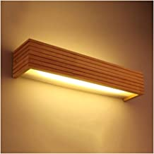 -Badkamer lamp LED massief houten wandlamp Nordic houten trap Aisle Bedside Slaapkamer Lamp Badkamer Vanity Spiegel Voorla...