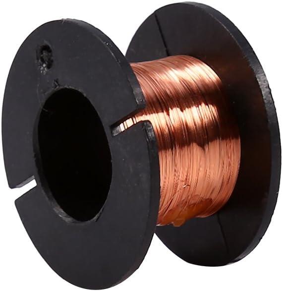 Cable Magnético, 5 Piezas Alambre Esmaltado, Alambre de Cobre Aislado, Alambre de Soldadura 0.1 Mm/0.004
