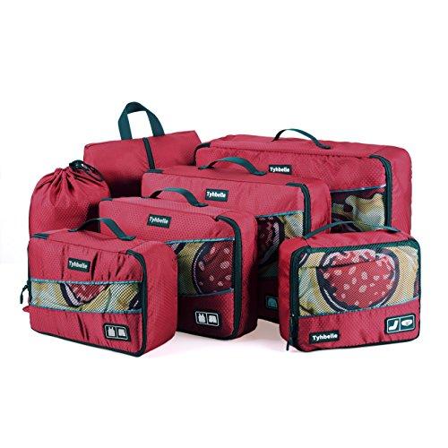 Tyhbelle Kleidertasche Packing Cubes Packwürfe 7-teiliges Set Ultra-leichte...