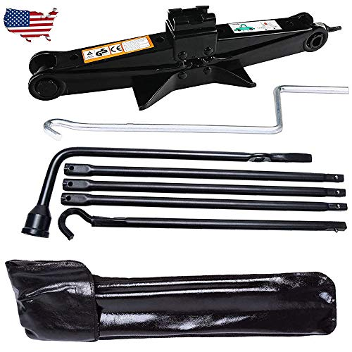 Spare Tire Tool OEM for Dodge Ram 1500 2002 to 2015 and 2 Ton Scissor Jack Wheel Tools Set 3-Y Guarantee)