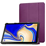 MoKo Case for Samsung Galaxy Tab S4 10.5, Ultra Lightweight Slim-Shell Stand Cover Case with Auto Wake/Sleep Function for Galaxy Tab S4 10.5 Inch 2018 (SM-T830 Wi-Fi/SM-T835 4G LTE) Tablet, Purple