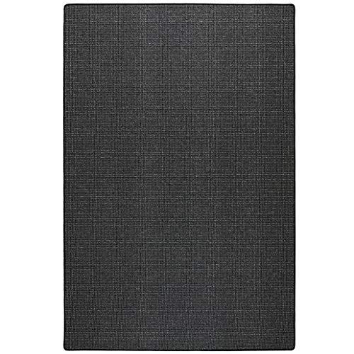 Schlingen Teppich Everest - Farbe: Beige Grau Caramel Anthrazit oder Rot   hochwertige strapazierfähige Qualität   für Wohnzimmer Schlafzimmer Büro, Farbe:Anthrazit, Größe:60 x 120 cm