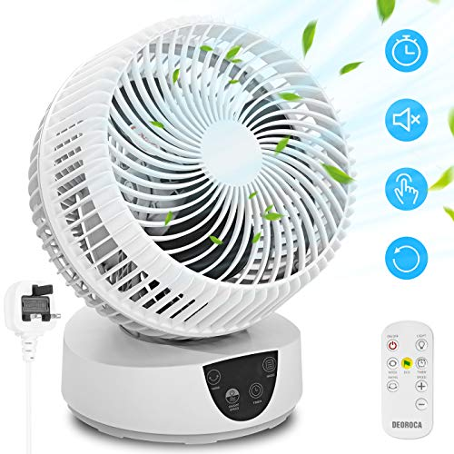 Desk Cooling Fan for Air Circulation with Remote Control, 3 Speeds, 4...