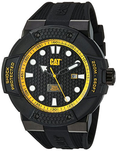 Caterpillar Reloj analógico para Hombres de Cuarzo con Correa en Silicona SE16121117