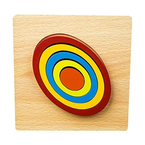 Juguetes educativos, rompecabezas de madera de animales para niños de 1 2 3 años de edad niños niñas juguete educativo, inteligencia juegos cerebrales educación (I)