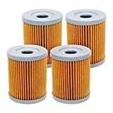 4 Pack Yerbay Motorcycle Oil Filter for Suzuki 250 Ozark LTF250 2002-2009 2012-2014 / LTF 250 LT250 Quadrunner 1988-2002