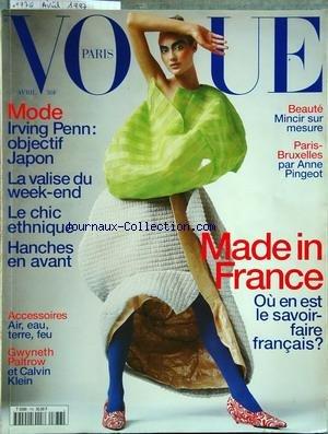 VOGUE PARIS [No 776] du 01/04/1997 - made in france -...