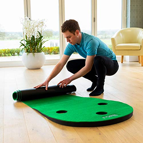 FORB Haus Golf Putting Matten – Praxis & Verbessern, Putt Striche, Golfübungsgeräte Zuhause [Net World Sports] - 3