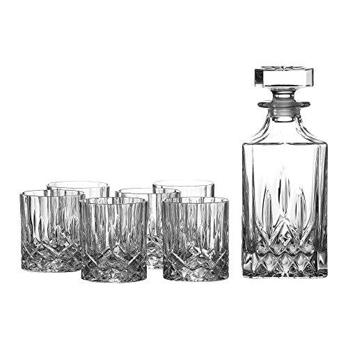 Royal Doulton Cristallo Decanter Stagioni Set, Set di 7, Trasparente