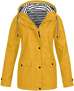 Womens Waterproof Pizex Hoodie Fall-Winter Outerwear Plus Size Trench Coat Jacket