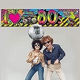 80s Party Dekorationen I Love 80s Banner, 1980er Jahre Hip Hop Zeichen Hintergrund Foto Stand Geburtstag Party Zubehör, 70,8 x 15,7 Zoll - 5