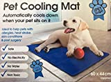 Mega_Jumble Self Cooling Gel Pet Dog Cat Cool Mat Pad Bed Mattress Heat Relief Non-Toxic 30 x 40cm Blue