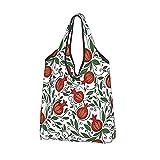 Bolsas reutilizables para comestibles, bolsas de compras, papel de granada, bolsas de regalo, plegables, ecológicas, con bolsa para uso diario, viajes, almacenamiento