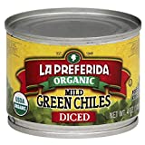 Organic Diced Green Chiles – Mild | La Preferida Roasted and peeled Gluten-free & Kosher Add to pizza, eggs, soups, and more for a unique twist! Try it with Carne Asada Tapas