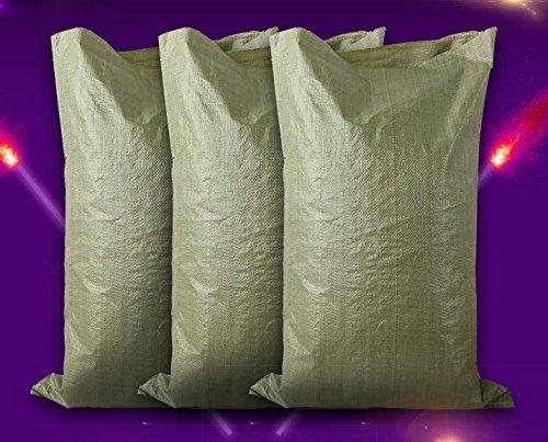 SOOMJ 強力土のう袋 土嚢袋 珪藻土袋 (土納袋・どのう袋・土のう袋) 輸入備蓄用 (60cm×100cm, 20枚セット)