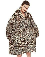 Oversized Hoodie Deken Sweatshirt, Gedrukt Flanel Hoody Deken, Super Zachte TV-Deken Gezellige Warme Comfortabele Nieuwigheid Hoodies, One Size Past All