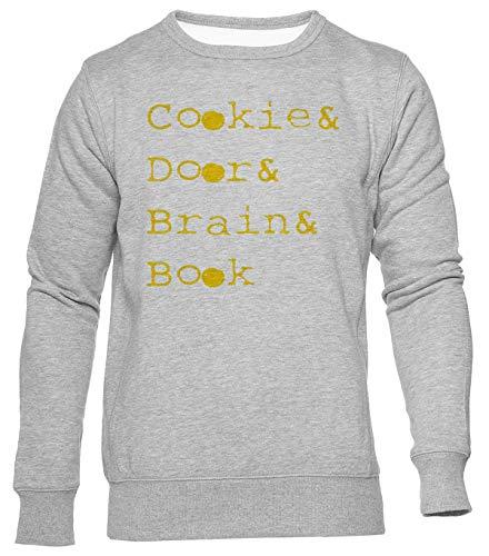 Cookie Door Brain Book Jersey Hombre Mujer Unisex Gris Jumper Men's Women's Grey
