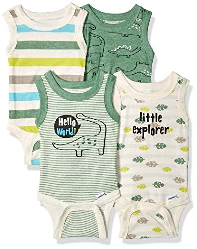 Gerber Baby Boys 4-Pack Sleeveless Onesies...