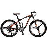 "OBK Eurobike E7 Full Suspension Mountain Bike 21 Speed Bicycle 27.5"" Mens Bikes Disc Brakes..."
