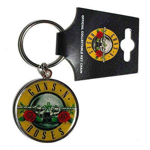 Offiziell Guns N Roses-Farblogo aus Metall Schlüsselanhänger