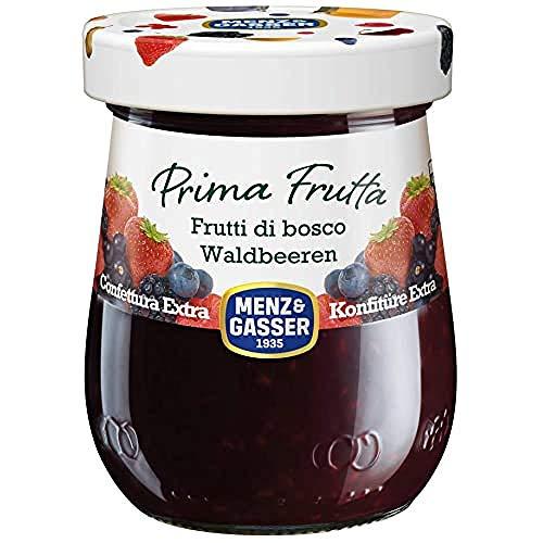 Menz&Gasser Confettura Extra di Frutti di Bosco Prima Frutta - Confettura con Frutta di Alta Qualità, 1 Vaso x 340 g