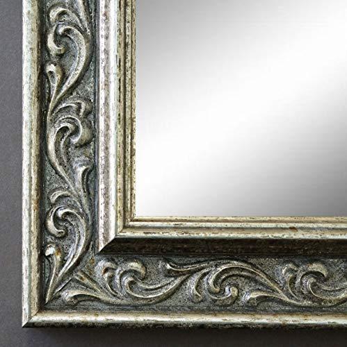 Online Galerie Bingold Spiegel Wandspiegel Badspiegel - Verona Silber 4,4 - handgefertigt - 200 Größen zur Auswahl - Antik, Barock, Shabby - 60 x 70 cm AM