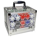 Jeu de Jetons de Poker,Jeux de Jetons en Plastique,Mini Casino Portable,Accessoires de Baccara,Jeux de Société et Divertissement (600 Jetons)