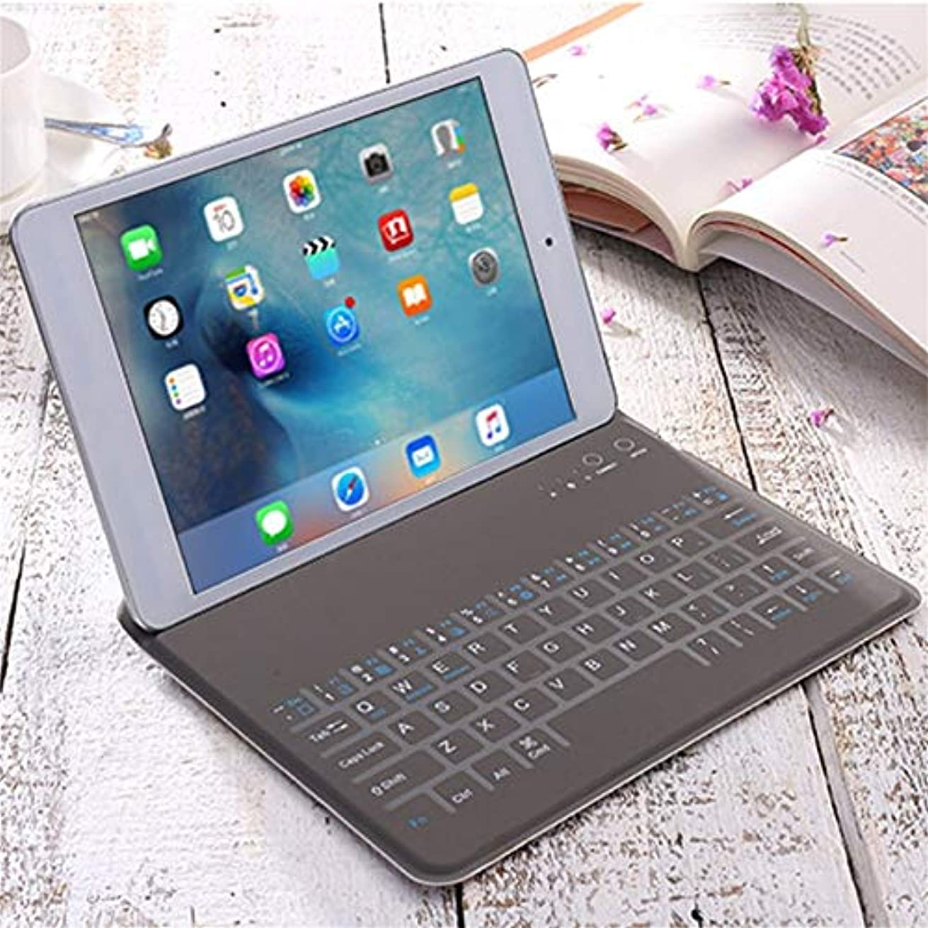 PU Leather Ultra-Thin Wireless Bluetooth Keyboard for iPad AIR/AIR2 Protective Sleeve Case Cover Universal Bluetooth Keyboard