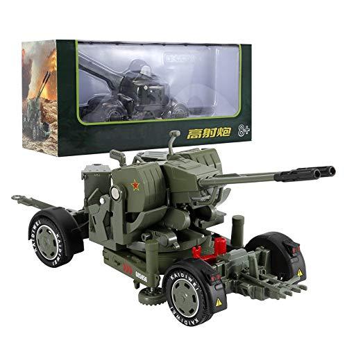 SALUTUYA Fernbedienung Armee Auto RC Spielzeug Militär Truck Mini Taschengröße Flak Modell Panzer Legierung Fahrzeug Druckguss Militärfahrzeuge Kinder Spielzeug Geschenk 1/35