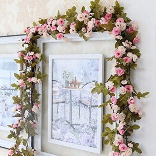SELUXU Artificial Rose Vine Falso Flor Guirnalda para la casa del Banquete de Boda Emulational Planta Decorativa