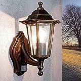 Lámpara nostálgica de pared para exterior con detector de...