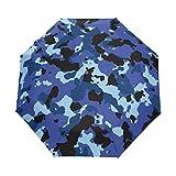 Hunihuni Parapluie pliable à ouverture automatique avec motif camouflage, coupe-vent, imperméable, anti-UV