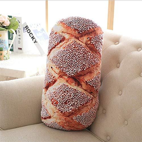 Cojín silla 50cm 70cm 3 tipos Patrón del pan almohada de algodón PP relleno Cervical Health Care almohada divertido del masaje suave de la almohadilla del cuello ( Color : Sesame Bread , Size : 70cm )