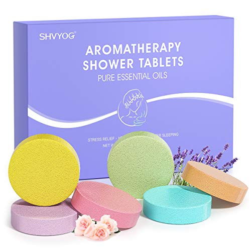 Shower Steamers Tablets, Aromatherapy Shower Vapor Tablet-Set of 12 Bath Bombs Infused with Pure Essential Oils for Home Vaporizing Spa Stress Congestion