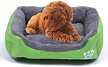 YUCHAO Candy Color Four Seasons Genuine Warm Pet Dog Kennel Mat Teddy Dog Mat, Size: XXL, 95×72×18cm (Coffee) (Color : Green)