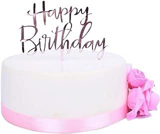 birthday cake with purple roses