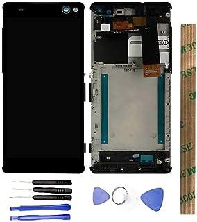 JayTong - visualización LCD y digitalizador de visualización táctil de Repuesto para Xperia C5 Ultra LTE E5533 E5553 E5506 E5563 Negro con Macro