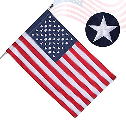 American Flag 3x5 Ft Outdoor Made in USA, INTBAG...