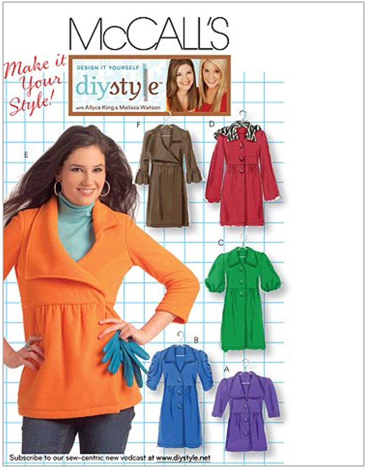 McCall's Patterns M5714 Misses' Unlined Jackets and Coats, DD (12141618)
