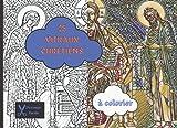 25 vitraux chrétiens à colorier- Découpe facile: livre de coloriages chrétiens pour adultes et adolescents